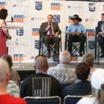 CHARLOTTE, NC - May 16, 2018 - The NASACAR Foundation Over the Edge announcement at the NASCAR Hall of Fame in Charlotte, NC.