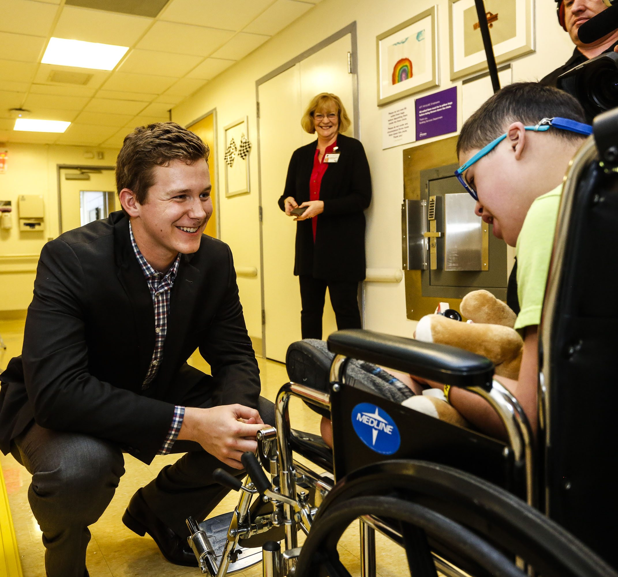 NEW YORK - APRIL 26:  Bill and Amy France visit the NYU Langone Medical Center in New York City, April 26, 2017.  (Photo by Jeff Zelevansky/NASCAR via Getty Images)