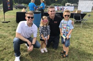 Austin and Callie with Myatt Snider and Dalton Sargent