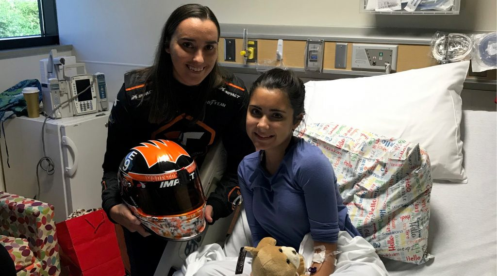 Cassie Gannis With Young Patient Courtesy Of Ism Raceway