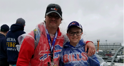 At the Races as Father and Son