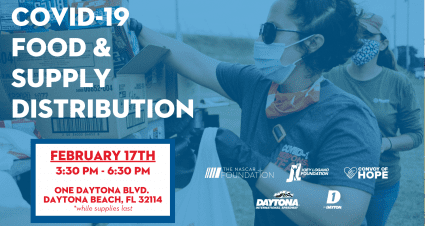 The NASCAR Foundation, Joey Logano Foundation, ONE DAYTONA and Daytona International Speedway to Host Convoy of Hope Food Distribution February 17