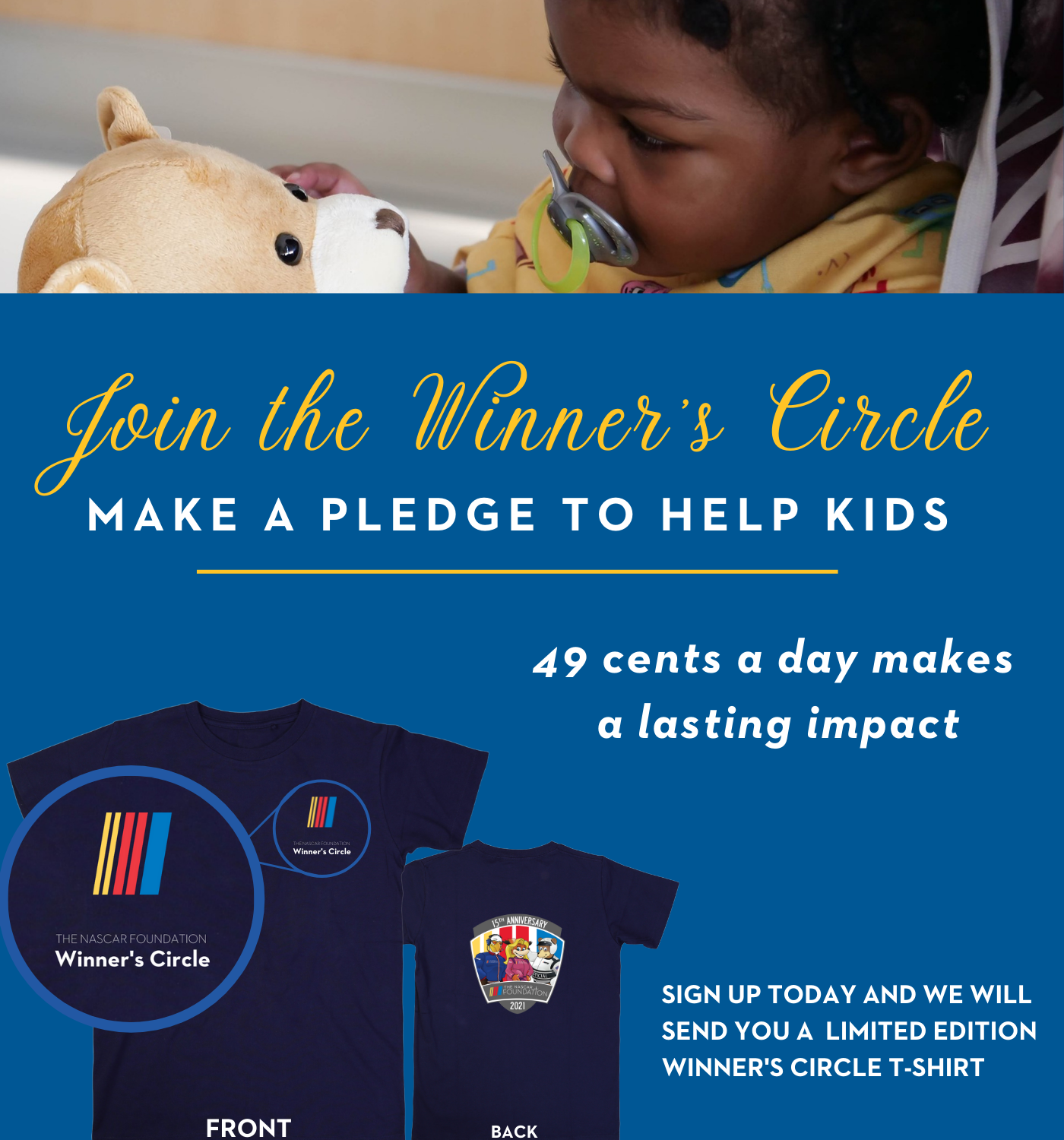 Join the Winners Circle with a monthly pledge