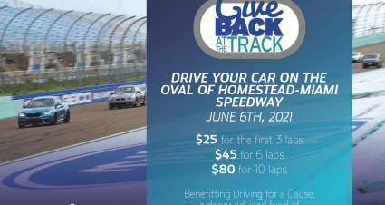 """Homestead-Miami Speedway to Host """"Give Back at the Track"""" on Sunday, June 6"""