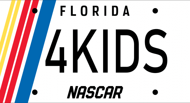 The NASCAR License Plate in Florida benefits The NASCAR Foundation