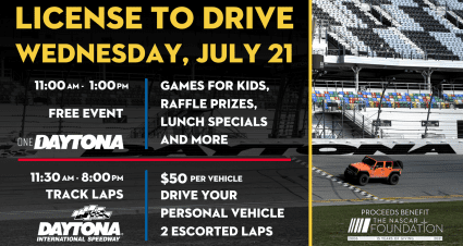 """""""License to Drive"""" & NASCAR Day to Take Place on July 21"""